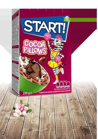 Подушечки з какао - начинкою