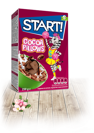 Pillows with chocolate filling