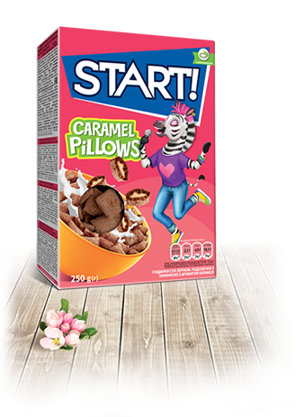 Pillows with caramel flavor filling