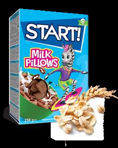 Подушечки з молочною начинкою