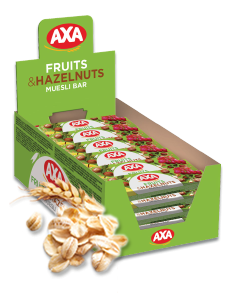 AXA fruits & hazelnuts cereal bar