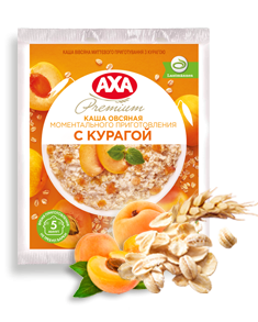 Porridge with dried apricots