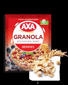 Granola with wild berries