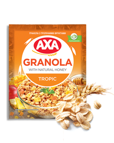 Granola with tropical fruit