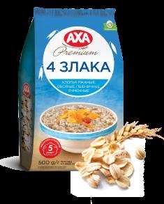 AXA PREMIUM. 4 cereal flakes