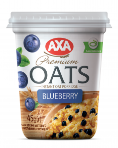 Instant Oat Porridge with blueberries